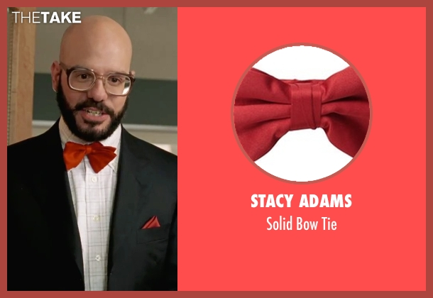 Stacy Adams red tie from She's The Man seen with David Cross (Gold)