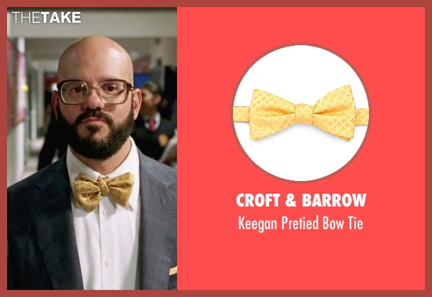 Croft & Barrow yellow tie from She's The Man seen with David Cross (Gold)
