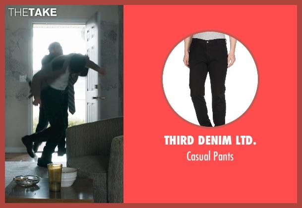 Third Denim Ltd. black pants from Prisoners seen with David Dastmalchian (Bob Taylor)