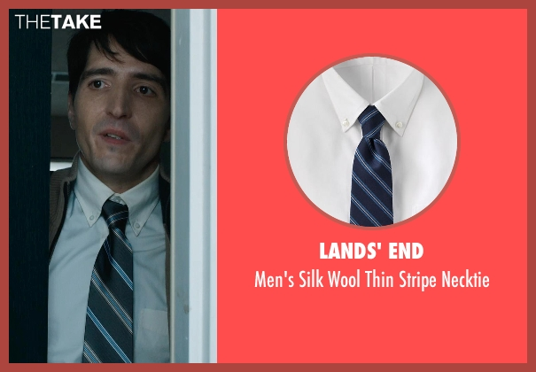 Lands' End blue necktie from Prisoners seen with David Dastmalchian (Bob Taylor)