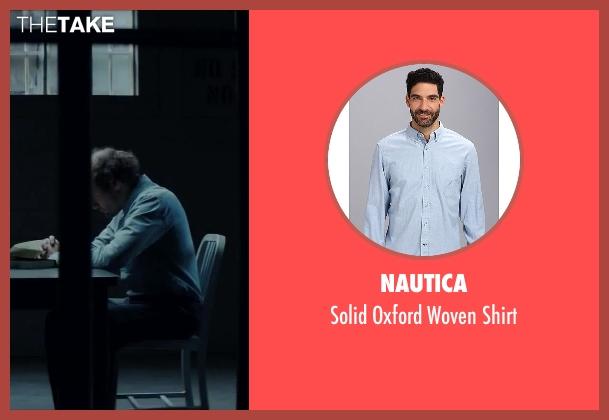 Nautica blue shirt from Regression seen with David Dencik (John Gray)