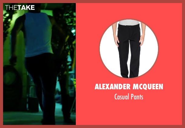 Alexander Mcqueen black pants from 13 Hours: The Secret Soldiers of Benghazi seen with David Denman (Boon)