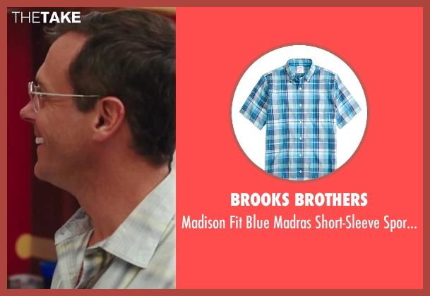 Brooks Brothers blue shirt from Sex and the City 2 seen with David Eigenberg (Steve)