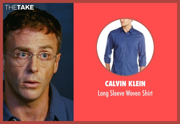 Calvin Klein blue shirt from Sex and the City seen with David Eigenberg (Steve)