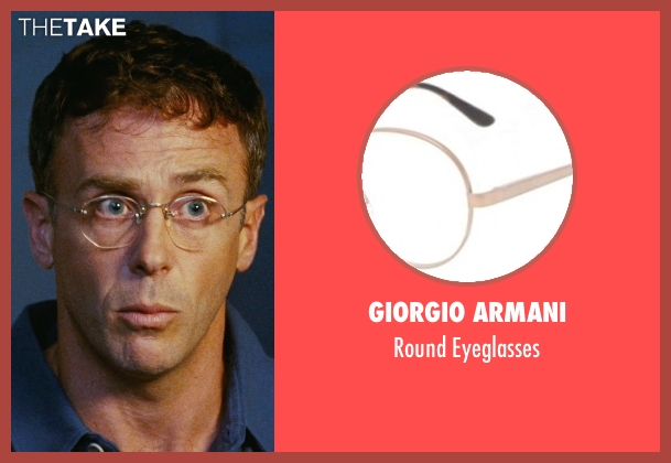 Giorgio Armani gold eyeglasses from Sex and the City seen with David Eigenberg (Steve)
