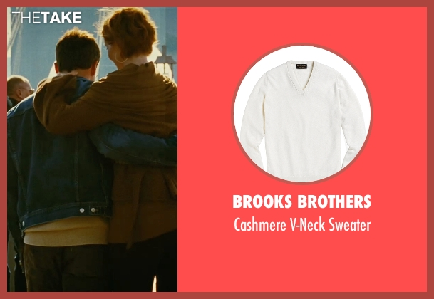 Brooks Brothers white sweater from Sex and the City seen with David Eigenberg (Steve)