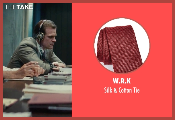 W.R.K red tie from Black Mass seen with David Harbour (John Morris)