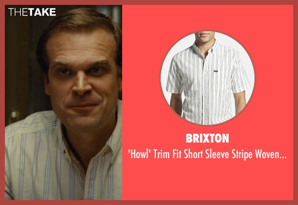 Brixton white shirt from Black Mass seen with David Harbour (John Morris)
