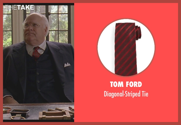 Tom Ford	 red tie from The Big Lebowski seen with David Huddleston (Jeffrey Lebowski/ The Big Lebowski)