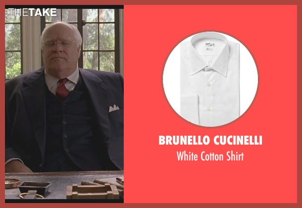 Brunello Cucinelli white shirt from The Big Lebowski seen with David Huddleston (Jeffrey Lebowski/ The Big Lebowski)
