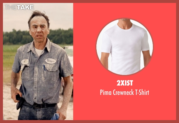 2xist white t-shirt from Hot Pursuit seen with David Jensen (Truck Driver)