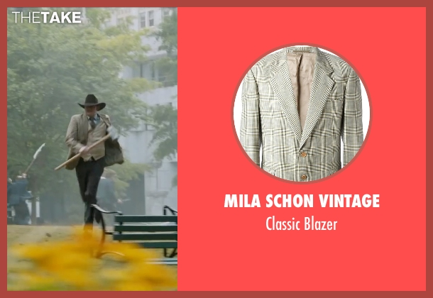 Mila Schon Vintage beige blazer from Anchorman 2: The Legend Continues seen with David Koechner (Champ Kind)