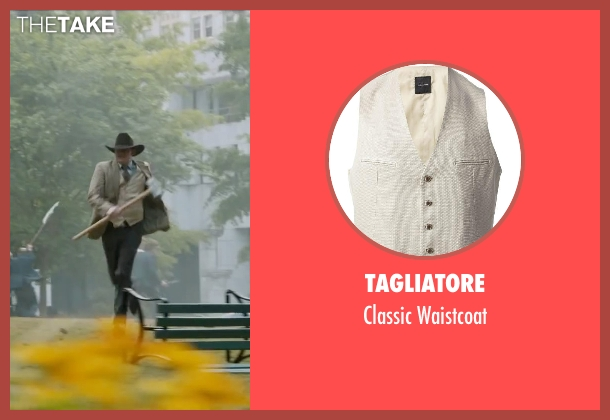 Tagliatore beige waistcoat from Anchorman 2: The Legend Continues seen with David Koechner (Champ Kind)