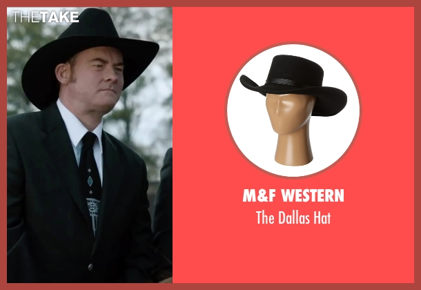 M&F Western black hat from Anchorman 2: The Legend Continues seen with David Koechner (Champ Kind)