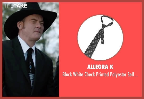 Allegra K black necktie from Anchorman 2: The Legend Continues seen with David Koechner (Champ Kind)
