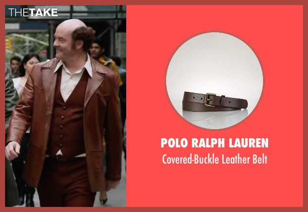 Polo Ralph Lauren brown belt from Anchorman 2: The Legend Continues seen with David Koechner (Champ Kind)