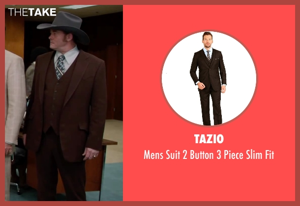 Tazio brown fit from Anchorman 2: The Legend Continues seen with David Koechner (Champ Kind)