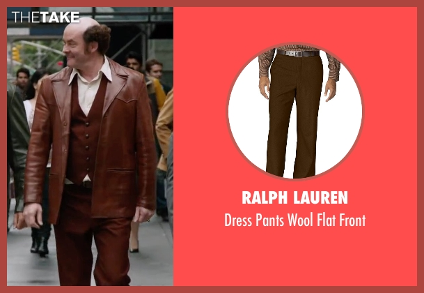 Ralph Lauren brown front from Anchorman 2: The Legend Continues seen with David Koechner (Champ Kind)