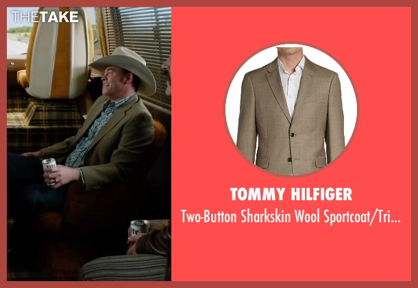 Tommy Hilfiger brown sportcoat/trim-fit from Anchorman 2: The Legend Continues seen with David Koechner (Champ Kind)