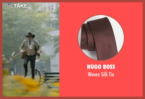 Hugo Boss brown tie from Anchorman 2: The Legend Continues seen with David Koechner (Champ Kind)