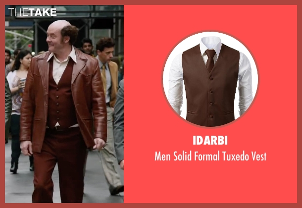 Idarbi brown vest from Anchorman 2: The Legend Continues seen with David Koechner (Champ Kind)