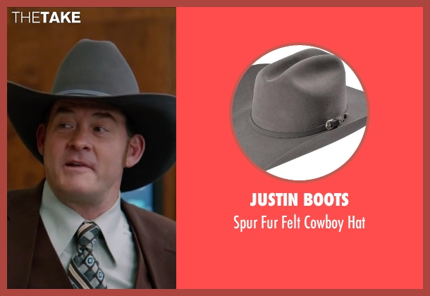 Justin Boots gray hat from Anchorman 2: The Legend Continues seen with David Koechner (Champ Kind)