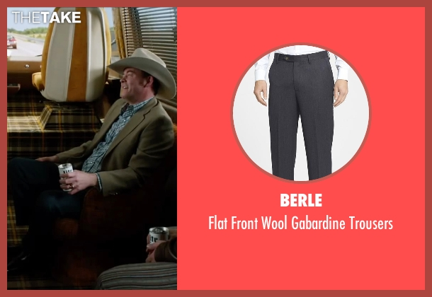 Berle gray trousers from Anchorman 2: The Legend Continues seen with David Koechner (Champ Kind)