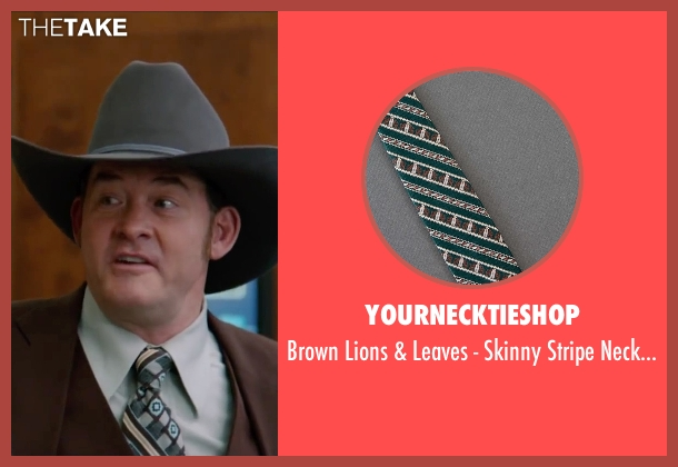 YourNecktieShop green necktie from Anchorman 2: The Legend Continues seen with David Koechner (Champ Kind)