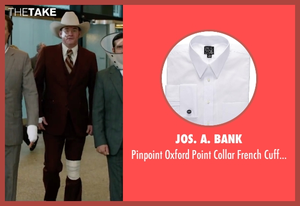 Jos. A. Bank white dress from Anchorman 2: The Legend Continues seen with David Koechner (Champ Kind)