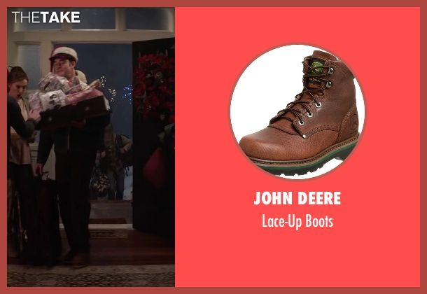 John Deere brown boots from Krampus seen with David Koechner (Howard)