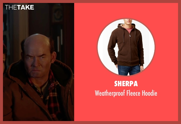 Sherpa brown hoodie from Krampus seen with David Koechner (Howard)