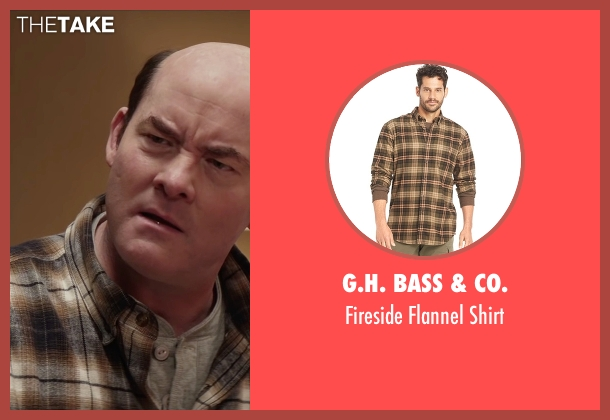 G.H. Bass & Co. brown shirt from Krampus seen with David Koechner (Howard)