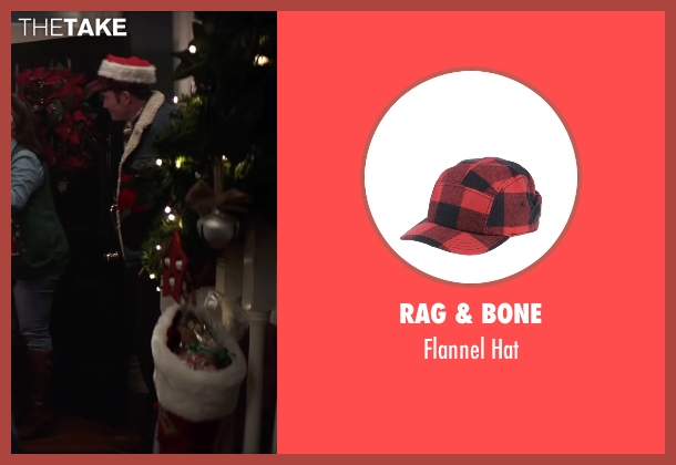 Rag & Bone red hat from Krampus seen with David Koechner (Howard)