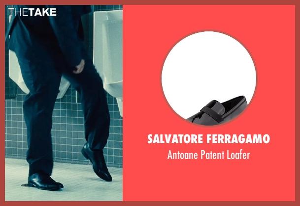 Salvatore Ferragamo black loafer from The Judge seen with David Krumholtz (Mike Kattan)