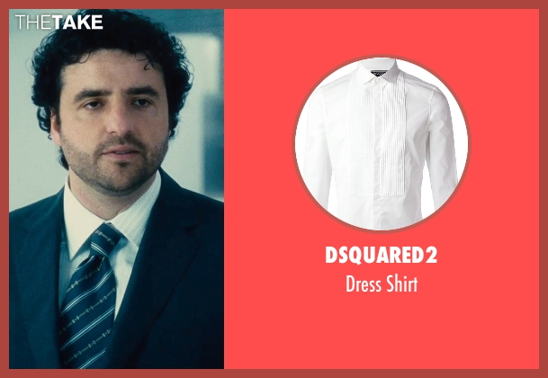 Dsquared2 white shirt from The Judge seen with David Krumholtz (Mike Kattan)