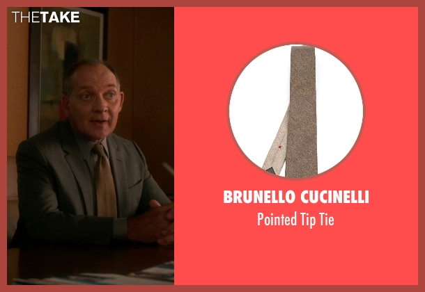 Brunello Cucinelli brown tie from The Good Wife seen with David Lee (Zach Grenier)