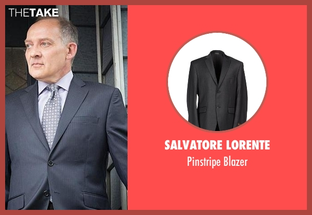 Salvatore Lorente gray blazer from The Good Wife seen with David Lee (Zach Grenier)