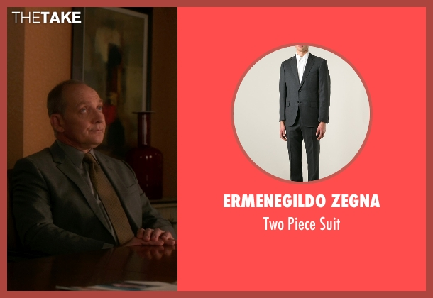 Ermenegildo Zegna gray suit from The Good Wife seen with David Lee (Zach Grenier)
