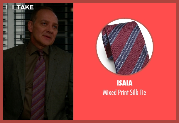 Isaia purple tie from The Good Wife seen with David Lee (Zach Grenier)