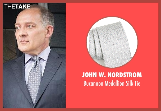 John W. Nordstrom silver tie from The Good Wife seen with David Lee (Zach Grenier)