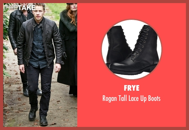 Frye  black boots from Once Upon a Time seen with David Nolan / Prince Charming / Prince James (Josh Dallas)