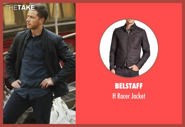Belstaff black jacket from Once Upon a Time seen with David Nolan / Prince Charming / Prince James (Josh Dallas)