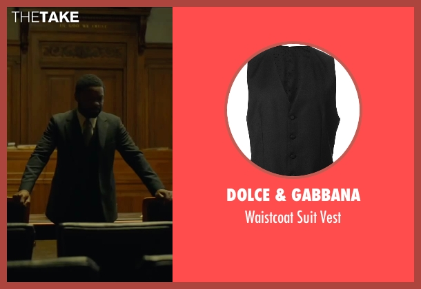 Dolce & Gabbana black vest from A Most Violent Year seen with David Oyelowo (Lawrence)