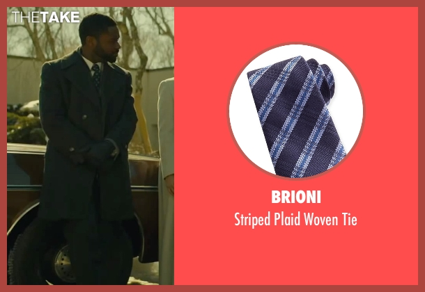 Brioni blue tie from A Most Violent Year seen with David Oyelowo (Lawrence)