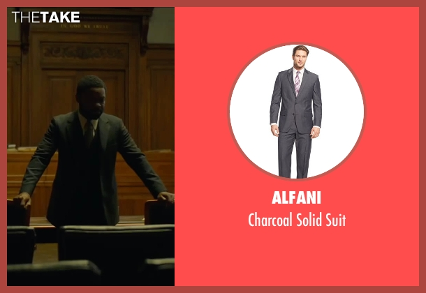 Alfani gray suit from A Most Violent Year seen with David Oyelowo (Lawrence)
