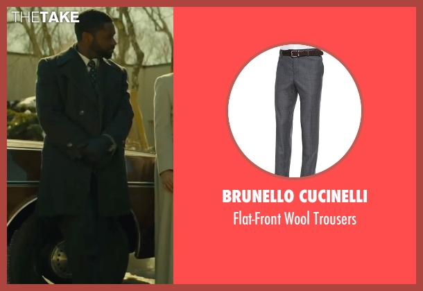 Brunello Cucinelli gray trousers from A Most Violent Year seen with David Oyelowo (Lawrence)