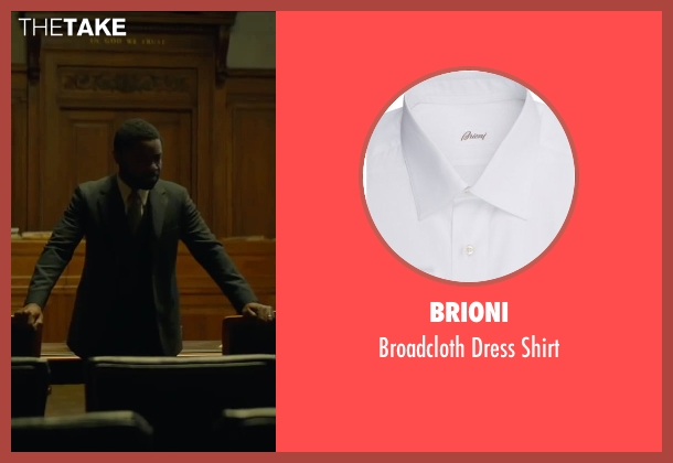 Brioni white shirt from A Most Violent Year seen with David Oyelowo (Lawrence)