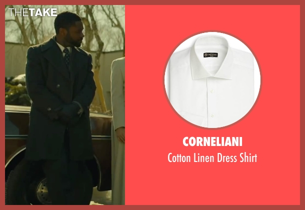 Corneliani white shirt from A Most Violent Year seen with David Oyelowo (Lawrence)