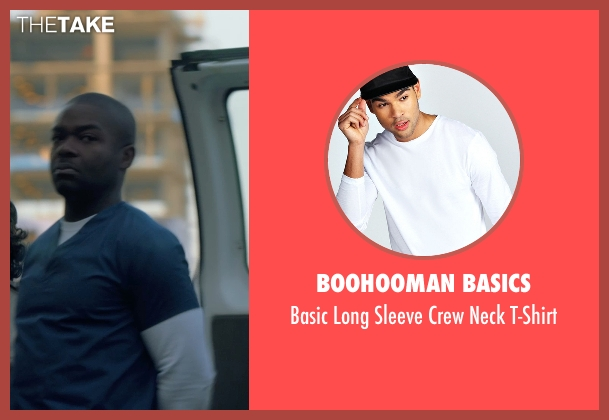 Boohooman Basics white t-shirt from Captive seen with David Oyelowo (Brian Nichols)
