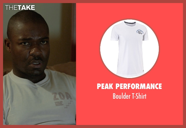 Peak Performance white t-shirt from Captive seen with David Oyelowo (Brian Nichols)